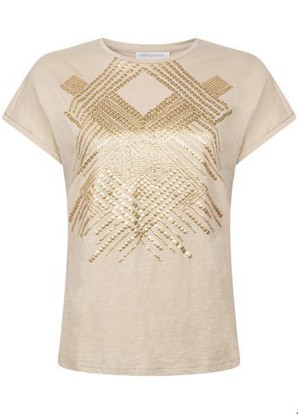T-Shirt Graphic Sequins zand