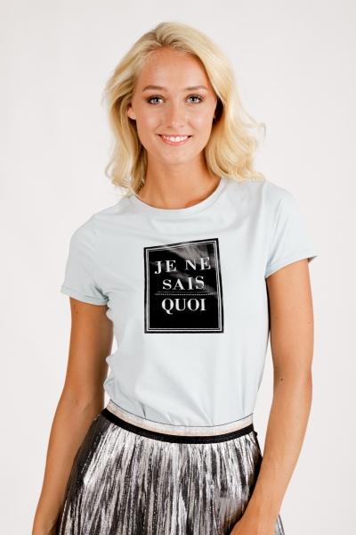T-Shirt Je Ne Sais Quoi bleu \ crystal