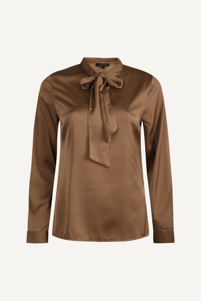 Top L/S Scarf camel