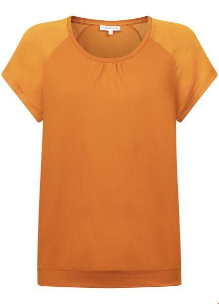 Top Basic Satin Raglan oranje