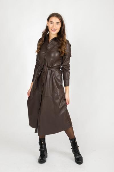Dress PU Midi d.bruin