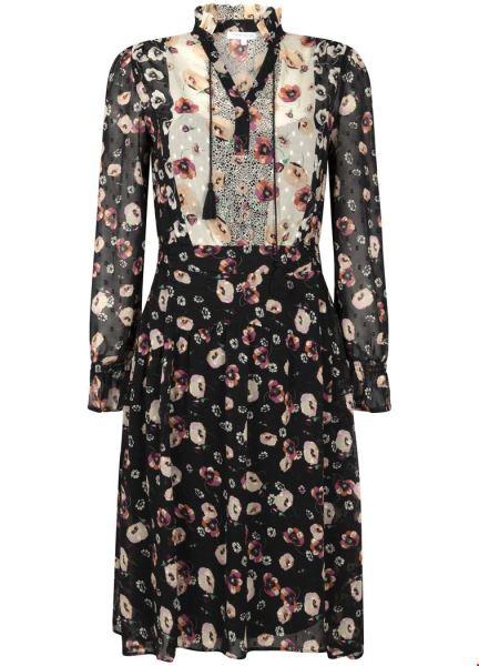 Dress Smock Plumetis Flower Mix multi