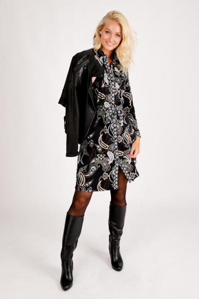 Dress Travel Dark Paisley Print multi