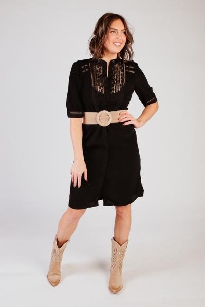 Dress Lace Mix zwart
