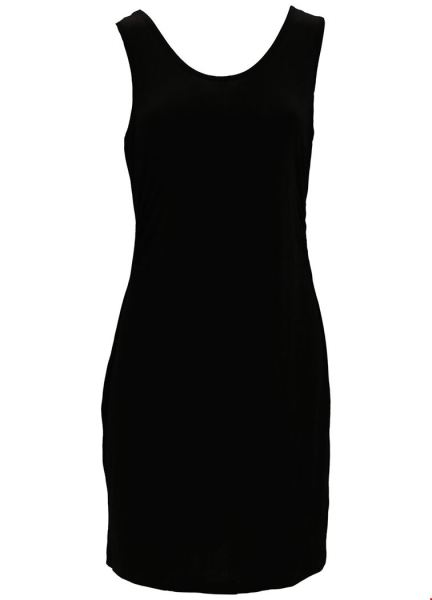 Basic Underdess Viscose zwart