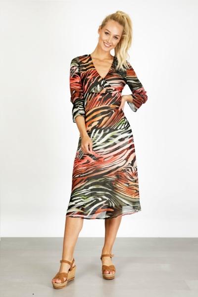 Dress Maxi Flamed Animal multi