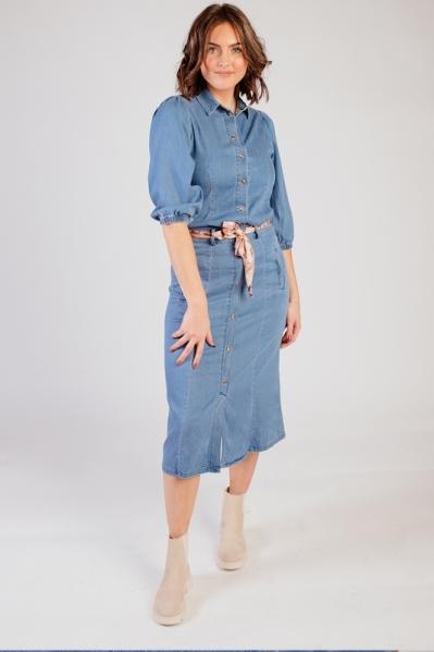 Skirt A-line Tencel denim