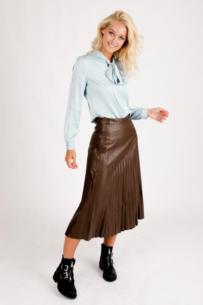Skirt Pleats PU d.bruin