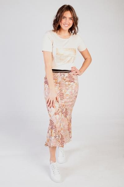 Skirt Midi Art Deco Print multi