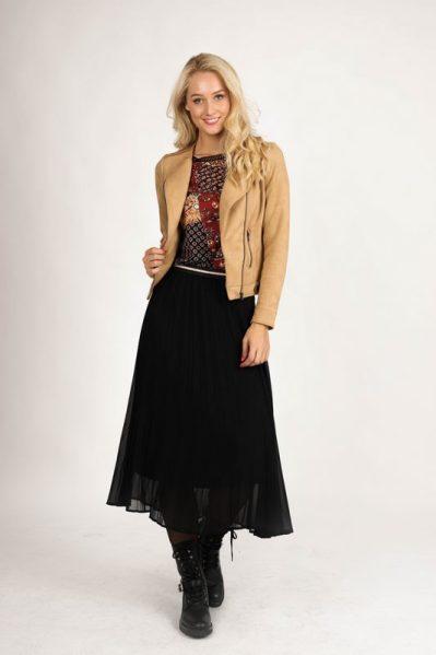 Skirt Pliss zwart