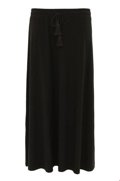Skirt Long Solid zwart