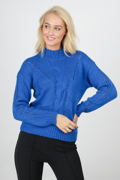 Jumper Cable Knit blauw