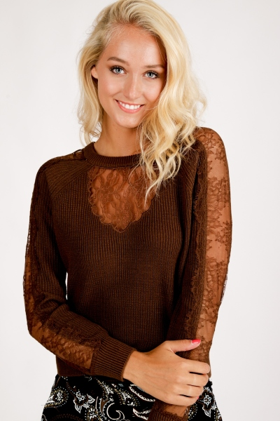 Jumper with Lace d.bruin