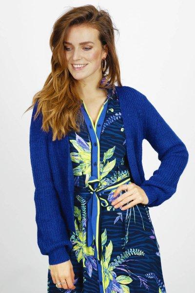 Cardigan Short blauw