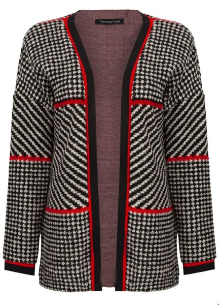 Cardigan Houndstooth Knit multi