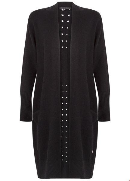 Knitted Cardigan Basic zwart