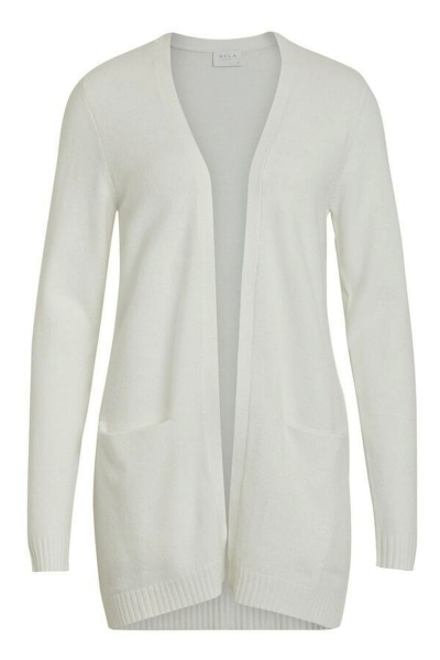 VIRIL L/S OPEN KNIT CARDIGAN-NOOS off white