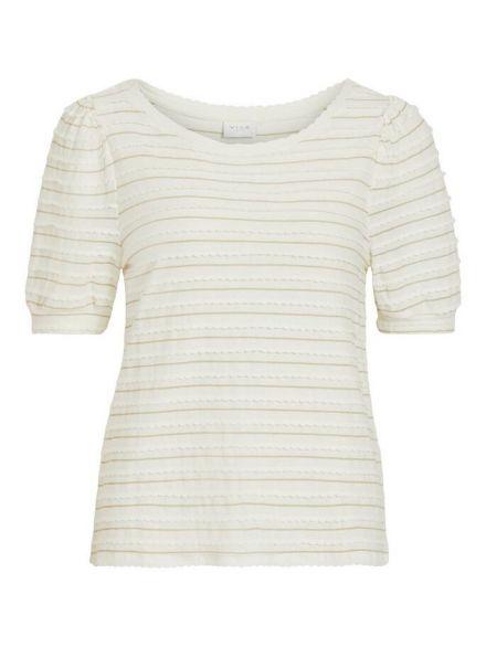 VIELASTIC O-NECK T-SHIRT off white