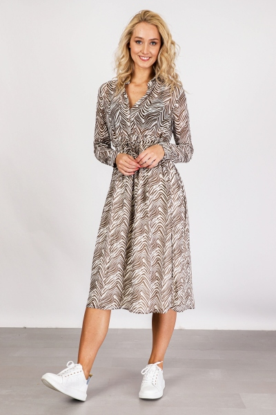 VIKOAL L/S SHIRT DRESS /RX off white