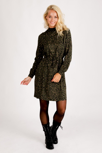 VIDANIA SMOCK L/S DRESS/SU groen
