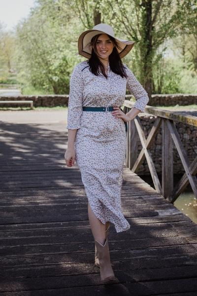 AAIKO Maxi-jurken Wit SELENI FLOWER