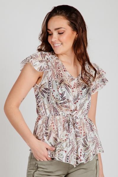 Geisha Shirt / Top Wit 13188-20