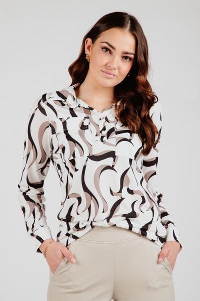 Printed blouse beige