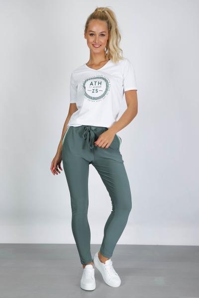 Tricot losvallend broekje licht groen  groen