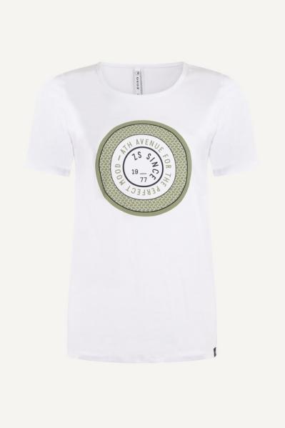 Shirt opdruk groen/wit  army