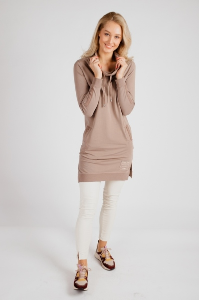 Sweat dress beige