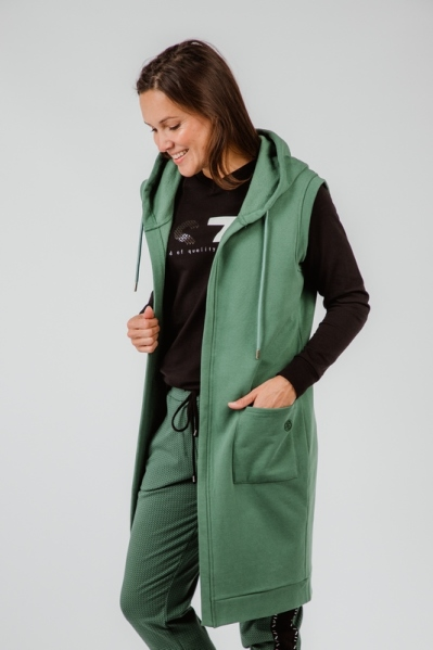 Cardigan with embroderie sleeveless green groen