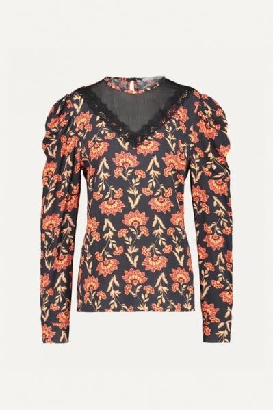 AAIKO Shirt / Top Zwart BIRDIE VIS 531