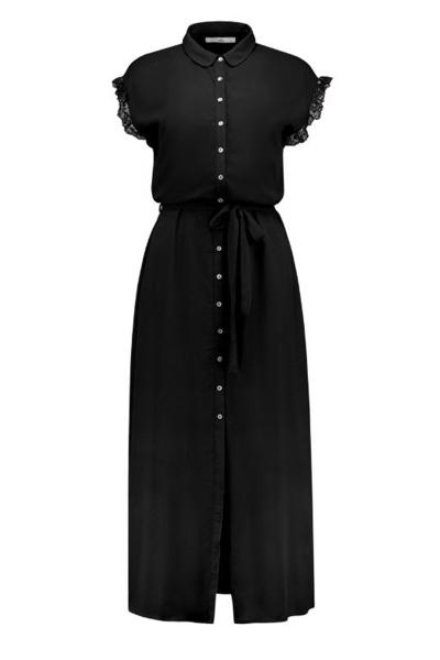 AAIKO Maxi-jurken Zwart NIKA VIS 531