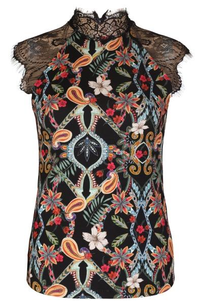 AAIKO Shirt / Top Zwart VILLA VIS 200