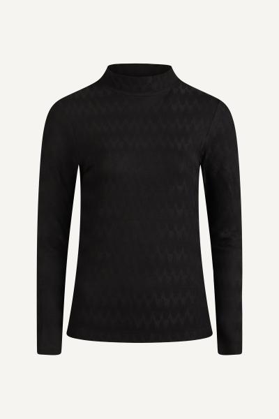 AAIKO Shirt / Top Zwart ZERA JACQUARD