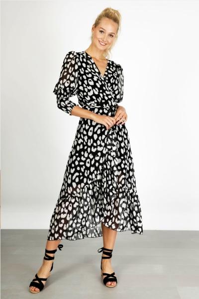 Ambika Maxi-jurken Zwart Thankful