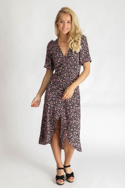 Ambika Maxi-jurken Zwart Thomasa