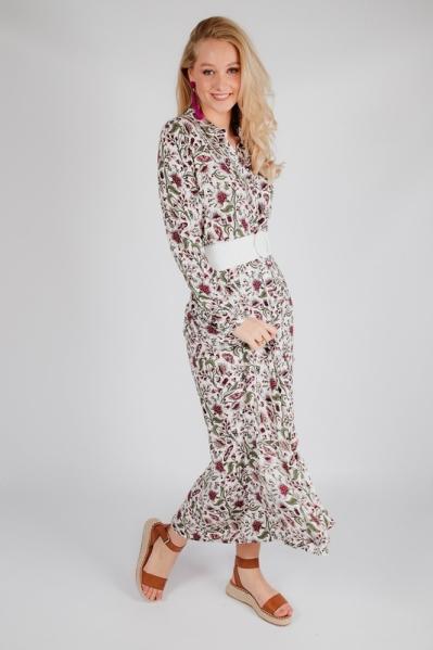 Est'seven Maxi-jurk Zwart RIO MAX DRESS