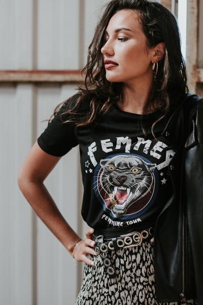 Femme9 Shirt / Top Zwart Eli