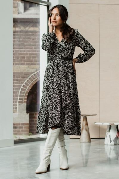 Femme9 Maxi-jurk Zwart POLLY