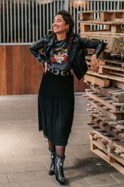 Femme9 Rok Zwart Effy