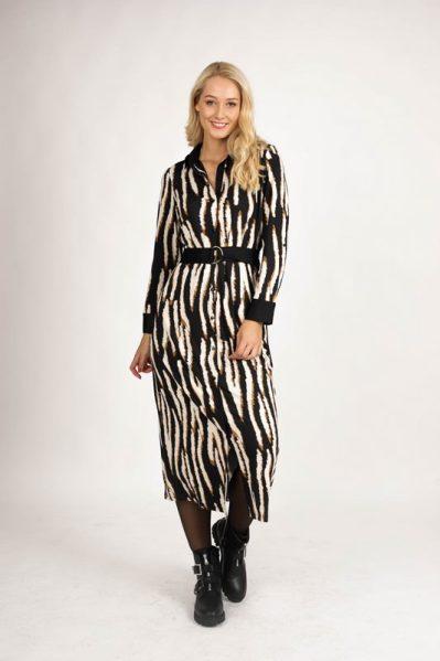 K-Design Maxi-jurken Zwart R821