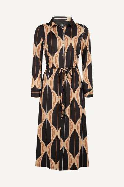 K-Design Maxi-jurken Zwart R836