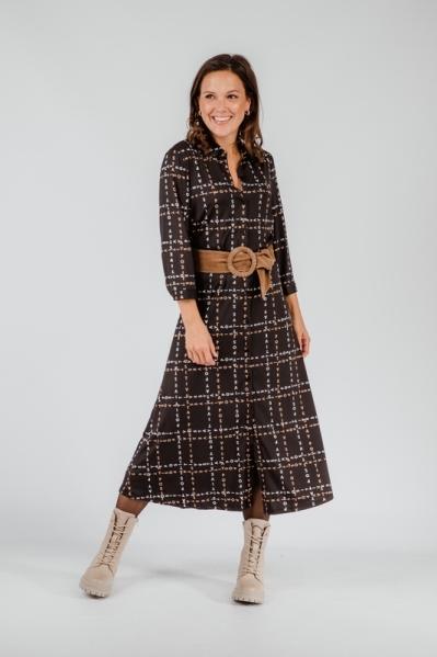 K-Design Midi-jurken Zwart T871