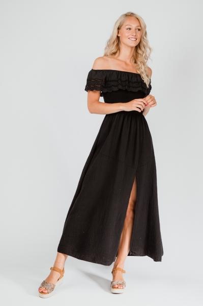 Le Ballon Maxi-jurk Zwart 1087