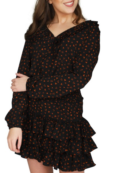 NIKKIE by Nikkie Plessen Shirt / Top Zwart Siena Top