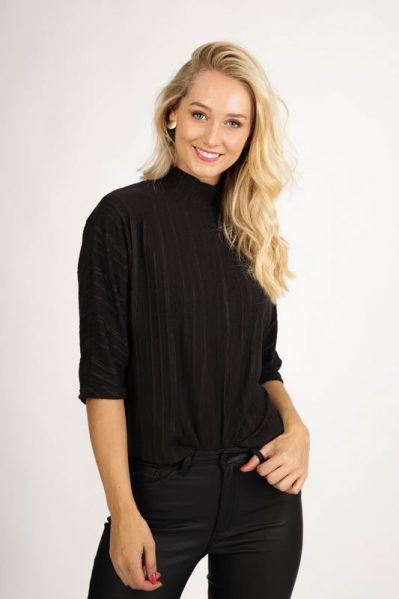 Object Shirt / Top Zwart 23033943