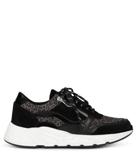 Poelman Sneaker Zwart P6117BAL