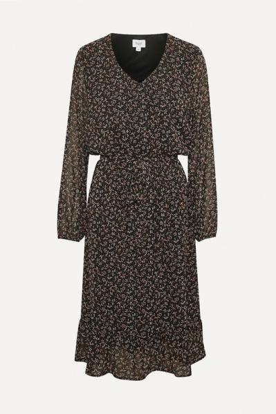 Saint Tropez Maxi-jurken Zwart Damara