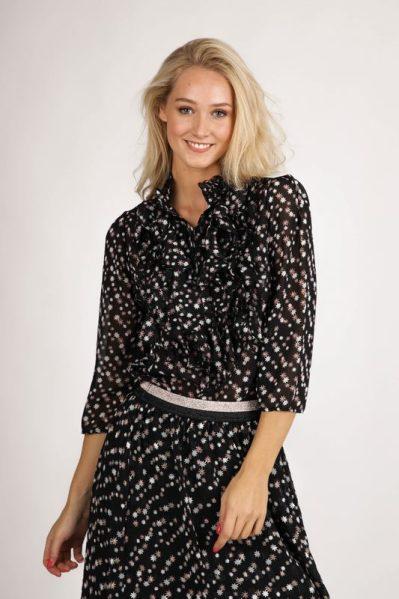 Saint Tropez Blouse Zwart Lilly Shirt